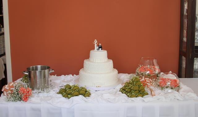 mesa de bolo do casamento ficou assim